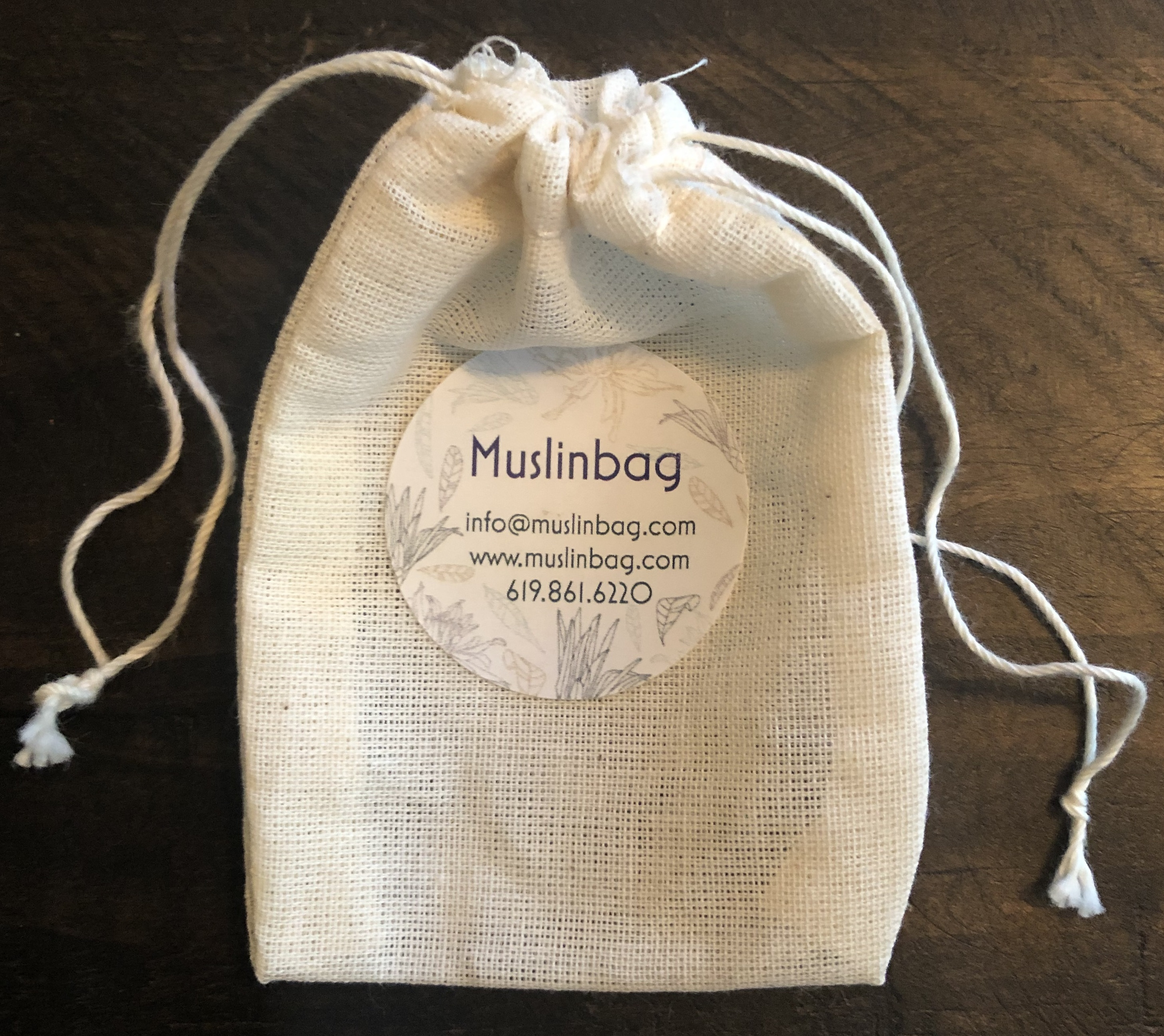 Unbleached Cotton Muslin Fabric Drawstring Bags - Made in USA ...