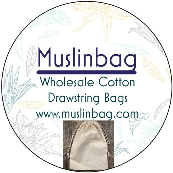 100% Unbleached Cotton Muslin Drawstring Bags - Made in USA ...